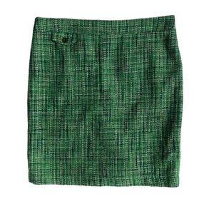 KENAR Women's PENCIL SKIRT Size 10 Tweed green